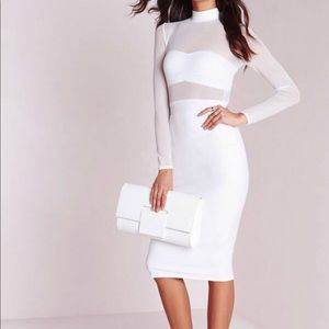 Dresses & Skirts - White dress with mesh top. Never been worn.